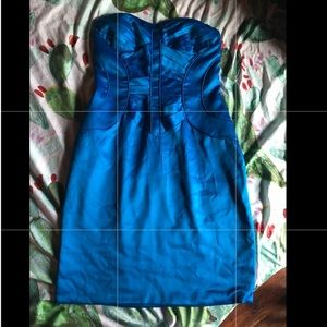 ArdenB Blue Strapless Dress